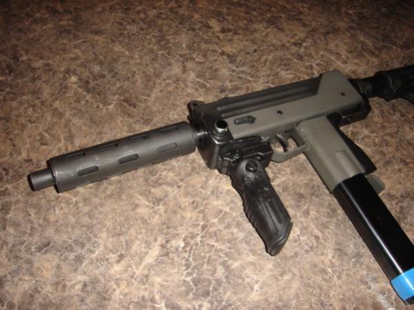 US Machinegun: MAC-10 9mm Vented 7 inch Barrel Extension
