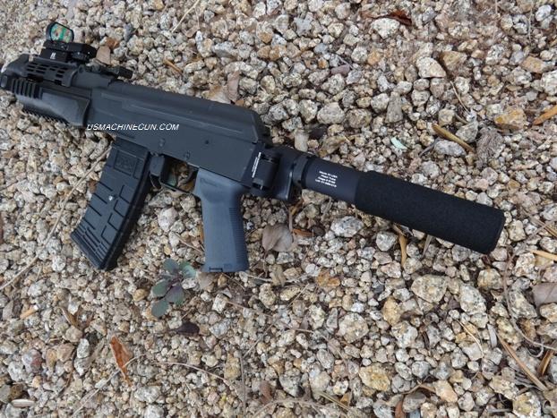 US Machinegun: Side Folding Pistol Buffer Tube and Adapter for AK-47