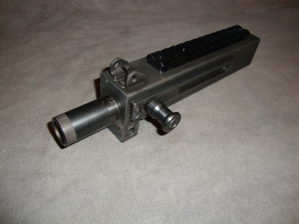 US Machinegun: Side Cocking Upper with Pinned Thread