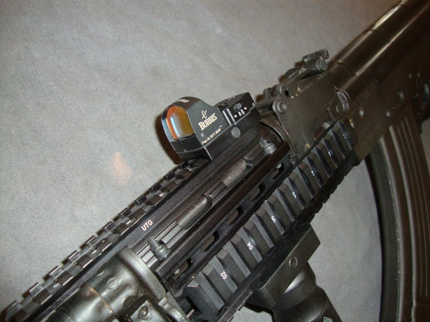 Us Machinegun Burris Fastfire Red Dot Sight With Picatinny Mount