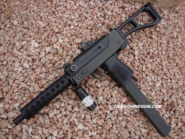 US Machinegun: Rear Stock Adapter & Billet Stock for Mac-10 SA Open