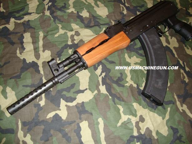 US Machinegun: 5 5 Inch Ported Muzzle Brake for AK-47 14 x1